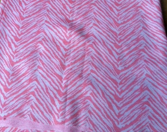 Pink dominant fabric for clothing or other