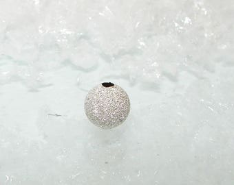 Silver bead ball 8.0 mm. Sequined beads first money title.