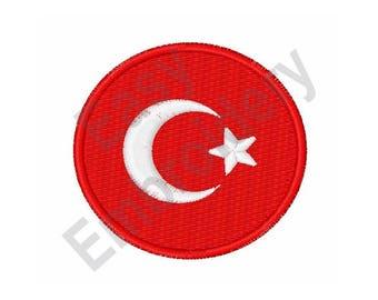Turkey Flag - Machine Embroidery Design