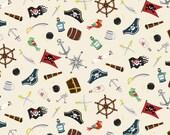 PIRATES Tissu coton patchwork PIRATES et ses accessoires x50cm