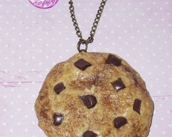 Chocolate Chip Cookie wholesale necklace
