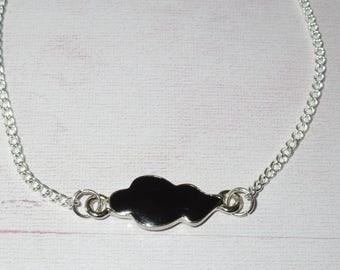 """Bracelet """"collection clouds"""": little black cloud"""