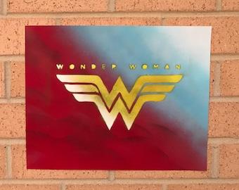 Wonder Woman Spray Paint Art