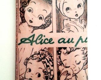 Card holder: Alice in the beauty (green)