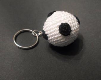 Crochet football keychain
