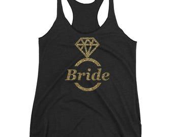 Bride Big Ring - Women's Flowy Racerback Tank