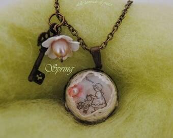 Spring long pendant