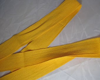 11 meters of bright yellow strap Ribbon 3 cm
