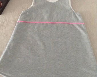Grey Sleeveless Jersey dress 2 years