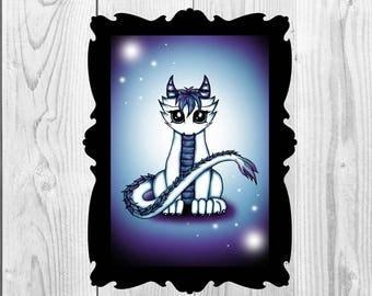 Art Print Celestial Dragon Digital Download