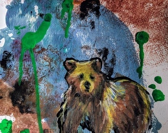 Bear in mind - on an abstract background