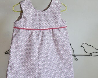 Baby summer geometric patterned dress