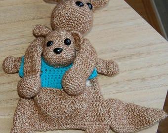 Kangaroo, ragdoll, toy, stuffed animal, baby
