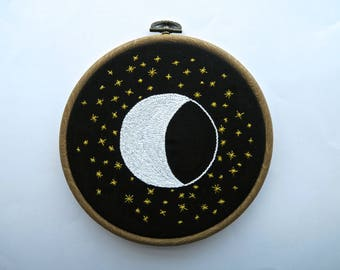 Moon and Stars Embroidery