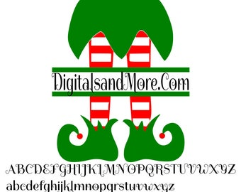 SVG, Elf Legs Monogram Svg, Monogram Elf Legs Svg, Elf Svg, Elf Leg Svgs, Christmas Monogram Svg, Elf Monogram Svg, Christmas Elf, Elf Dxf