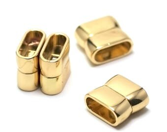 1 magnetic clasp 22 x 19 x 11 mm, gold