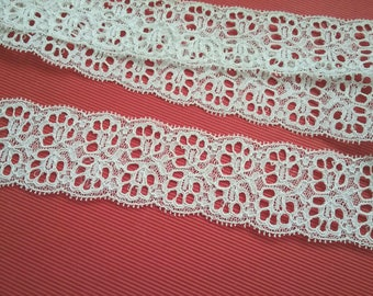 White French Calais lace from the 60s VINTAGE 1 m 50