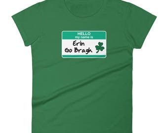 Womens Erin Go Bragh St Patricks Day T-Shirt parade green leprechauns pub crawl shamrocks 4 leaf clovers irish ireland holiday blarney