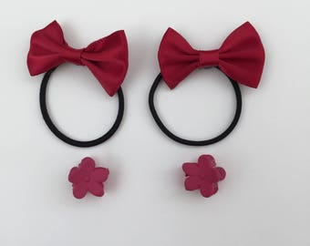 Red Bow-knot - Elastic band - Girls Hair Clip - Baby Girl Hair Clips - Kids Hair Clips