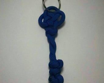 Blue Skeleton Key Keychain