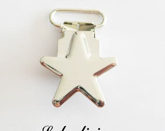 50 star, pacifier pacifier blanket from 20 mm metal clips