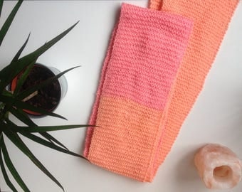 Bright Peach & Pink Homemade Refreshers Scarf 3M