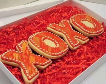 XOXO Cookie Set Hugs & Kisses VDAY