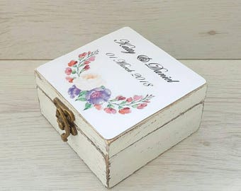 Wedding ring box, Ring bearer box, Ring box for ceremony, Personalized ring box, Ring box wood, Ring holder, Engagement box, Proposal holder