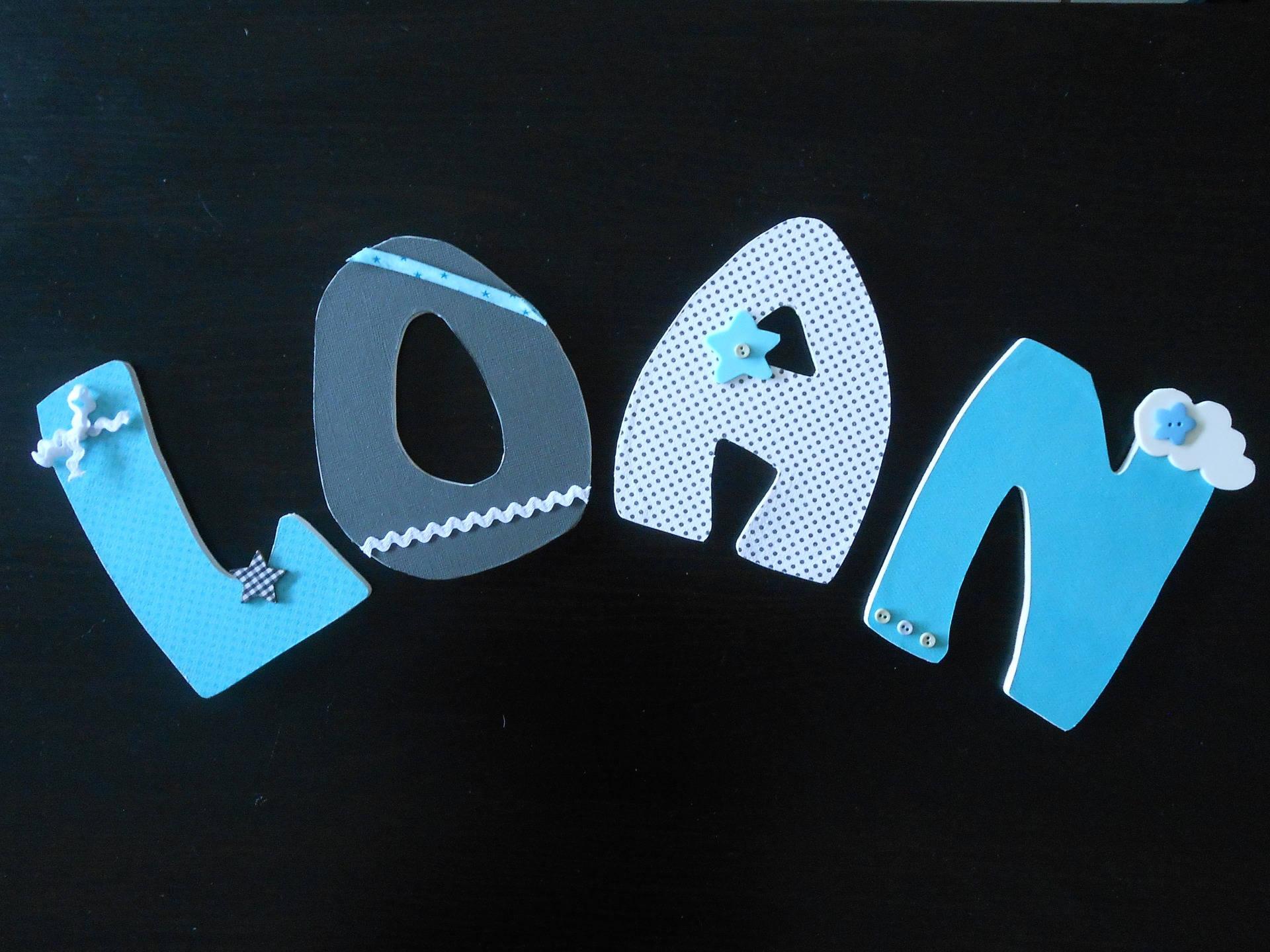 Custom wood LOAN letter