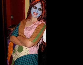 Handmade Custom Sally Costume (Nightmare Before Christmas)