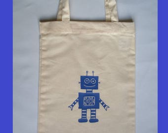 """small tote bag """"robot"""" or range canteen towel (small bag Tote to child)"""