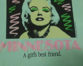 Rare Vintage Marilyn Monreo t-shirt 80's ,size L