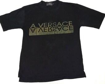 Mega Sale!!!Vintage Versace Medusa T Shirt Big  Logo Spell Out