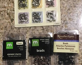 Miscellaneous Brads for Scrapbooking