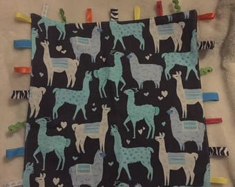 Llama Taggie Lovie Blanket