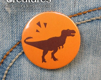 Badge 38mm dinosaur T Rex (feathers)!