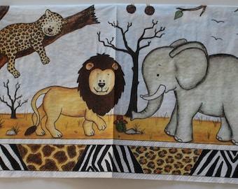 napkin childish African landscape 2 different patterns