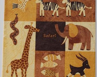 napkin animals African 4 identical patterns