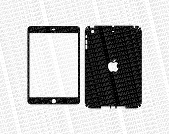 Apple iPad Mini Gen 2 - Skin Cut Template  - Templates for cutting or machining - Digital Download - Plotter, CNC, Laser Cutter - SVG
