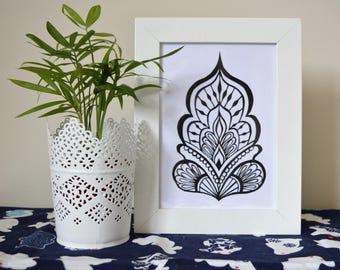 Henna Motif Paper-Cutting