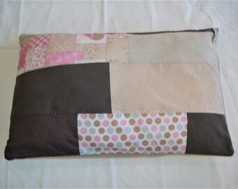 soft patchwork pillow