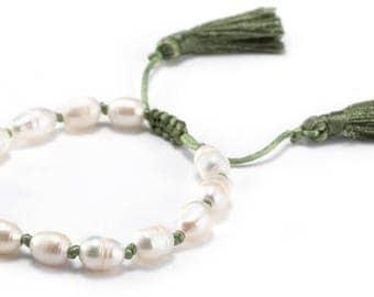 Freshwater Pearl Tassel Bracelets