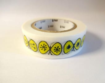 Washi tape yellow butterflies - masking tape - Scrapbook - embellishment