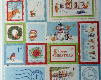 (X 16) stamps Christmas cutting - animals - scrapbooking, cardmaking, embellishments