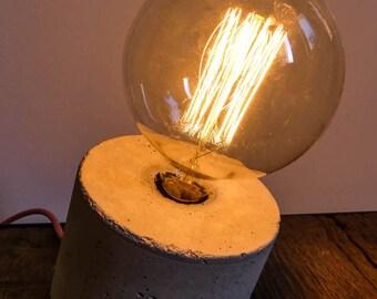 Lamp concrete minimalist vintage filament bulb