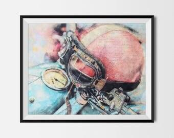 Motorcycle Helmet, Motorcycle Printable, Motorcycle Poster, Motorcycle Print,Motorcycle Wall Art,Motorcycle Art,Biker Gift, INSTANT DOWNLOAD