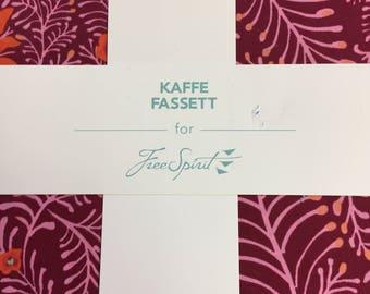 """Kaffe Fassett (LIPSTICK) 10"""" charm pack"""