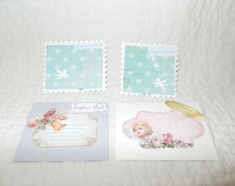 Shabby chic style set of gift tags to put on your Christmas gifts