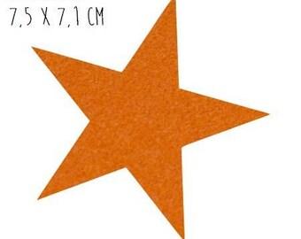 Star pattern fusible thin 7.5 x 7.1 cm orange Velvet