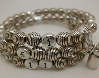 Nursing treasure bottle silver plated bracelet